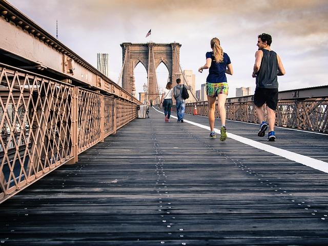 běh po mostě