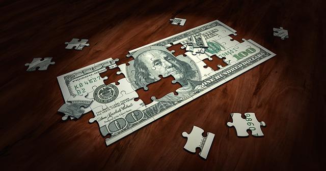 puzzle z bankovky